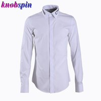 Snake Embroidery Collar Shirt men 2019 Brand New Fashion Sol...