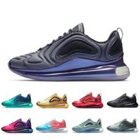 cheap for discount 9b544 8516c KPU Nike Air Max 720 Running Athletic Shoes Uomo Donna Deep Blue Triple  Nero Bianco Rosso