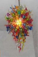 2020 extravagante do casamento LED Lustres Atacado frete grátis Vidro colorido Murano Colorido LED decorativa de suspensão barato
