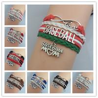 Charm Beyzbol Anne Sıcak Satış Beyzbol Bilezikler Moda Kız Takı Bilezik Takım Için En Iyi Beyzbol Takı Bilezik Tezahürat