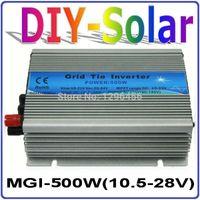 MGI 500W DC10.5 ~ 28V Wechselrichter für Wechselrichter für Solarpanel 18V / 36 Zellen, 90-140V oder 180-260VAC reiner Sinus-Wechselrichter 500W 18V
