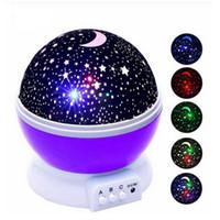 LED Rotating Noite Lamp Starry Sky Estrela Mestre crianças dormem Romantic Night Light LED USB Battery Projector Lamp presentes Quarto