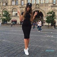 Hot Sale ZSIIBO Womens Dress Vestido Short Sleeve Slim Bodycon Dress Tunic Crew Neck Casual Pencil Dress New Arrival Free Shipping