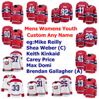 Montreal Canadiens Maglie 15 Jesperi Kotkaniemi Jersey Tomas Tatar Nick Suzuki Phillip Danault Shea Weber pullover del hokey ha cucito su misura