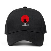 Itachi Uchiha Dad Hat 100% coton Akatsuki Anime Naruto japonais Uchiha Sasuke Logo de broderie de base-ball Casquettes Snapback Hat