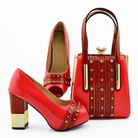 Wonderful coral women cover shoes match handbag with big crystal decoration african pumps and bag set for dress MD010,heel 9.5CM
