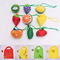Shopping Travel Shoulder Bag Mini Fruit Folding Reusable Bags Pouch Tote Handbag 14 Styles Lot