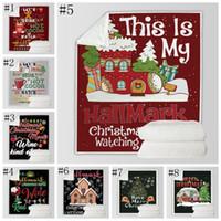 Natale Inverno indossabile con cappuccio coperta calda decorazioni morbido letto casa Gettare Divano coperte per bambini adulti 150 * 200CMDSL- LXL970