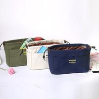 여자 여행 삽입 캔버스 핸드백 주최자 지갑 튼튼한 지갑 삽입 주최자 가방 가방에 메이크업 가방 2 크기 20