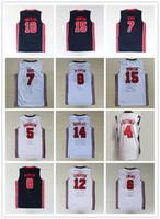 1992 America Dream Team One Jerseys Baloncesto Larry John Bird Stockton Karl Malone Pippen Ewing Robinson Drexler Johnson Barkley
