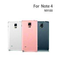 Cep Telefonu Tamponları 100 Orijinal Samsung Galaxy Note4 N9100 Geri Konut Kapak Kılıf N910 Pil Değiştirme