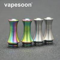 Punta a goccia in acciaio inox VapeSoon 510 Cool Vape Punta a goccia a goccia Nautilus 2S Silver Rainbow Drip Tip DHL Free