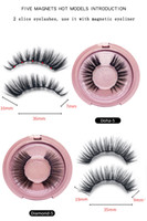3D Mink Magnetic Eyelash faux EXTRACTION EXTRACTION EMPANCHÉLES ÉTONABLES COUNTES DE MAQUIAGEM EYLINER LIQUIFIQUE MAGNETIQUE DHL