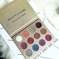 12 Colors BEAUTY GLAZED Shining Sequins Make Up Glitter Eyes...