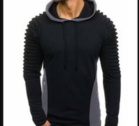 Men Fashion Draped Hoodies Solid Spring Autumn New Casual Hooded Sweatshirts Pullovers