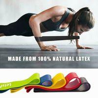 5 Farben Elastic Yoga Gummi-Widerstand-Bänder Gum für Fitness Equipment Übungsband Workout Zugseil Stretch Cross Training FY7008 Assist