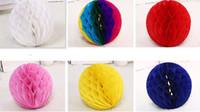 New Festive 4'' 6'' 8'' 10'' 12'' honeycomb ball paper flower lantern ball wedding party kids birthday party xmas baby show