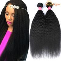 8A péruvienne Kinky droite Vierge Human Hair Weave 100% Péruvien Virgin Hair Non traité 3 Bundles Remy Hair Trame affaire