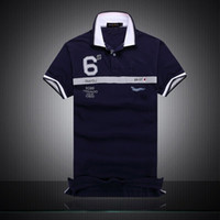 qualityMensMens Erkek Yaz Kısa Kollu Polos Tshirts Man Pamuk Yaka Casual Tees Hommes Baskılı Desig Standı tişört spor iş yüksek