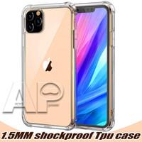 1.0mm para iPhone 12 Mini 11 Pro MAX XS Max XR Case transparente TPU Funda a prueba de golpes Transparente Transparente