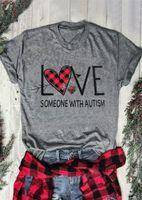 Sevgililer Günü Kadınlar Tasarımcı tişörtleri Moda Love Letter Baskı Kısa Kollu Bayan Tees Casual Dişiler Giyim
