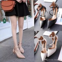 Shoe children 2019 new stiletto heels shoes Korean version o...