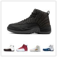 buy popular c1c09 5834e Herren Basketballschuhe Herren Designer Schuhe Turnschuhe OGs Air J 12  Spiel schwarz weiß blau Mode Backboard