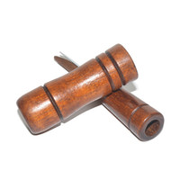 Whistle exterior Caça madeira chamariz Hunter Brown Oak Wood sopro Duck transporte Caller 2018 New Gota