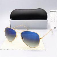 2020 New óculos polarizados Homens Mulheres Pilot Óculos de sol UV400 Óculos Design Vidros driver óculos de sol Metal Frame Polaroid Lens