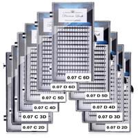 2D 3D 4D 5D 6D ventilateurs Volume Cils Extension Individualisé Cilios Pré-en russe Cluster Lash Maquillage des yeux Outil