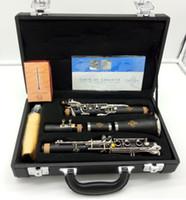 بوفيه Crampon Blackwood Clarinet E13 Model Bb Clarinets الباكليت 17 مفاتيح الآلات الموسيقية مع القصب المعبرة