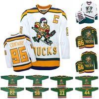 Mighty Ducks Camisa De Cinema 14 Antti Aalto 21 Ted Donato 22 Luis Mendoza 31 Escudos De Steve 56 Russ Tyler 86 Shjon Podein Camisolas De Hóquei