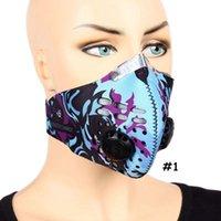 Дышащие Угольные фильтры Face Mask Unisex Спорт Велосипед пыли смога Защитные Половина лица неопрена маска РМ2,5 Велоспорт Маски CCA12091 10шт