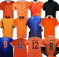 Rétro 1988 1991 1995 1996 2000 2002 2014 Jersey de football Basten Holland Bergkamp Gullit Rijkaard Davids Chemise de football rétro