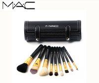 Wholesale mac makeup online - New Brands MAC M MC MACS Barrel packaging makeup brushes kit