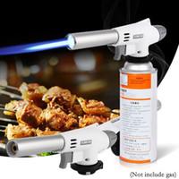 용접 가스 화염 토치 라이터 조정 화염 메이커 라이터는 기계 주방 야외 바베큐 제빵 캠핑 BBQ 도구 스프레이