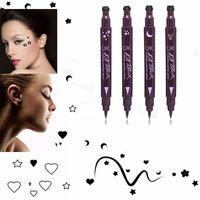 Crayon Eyeliner Liquide Double Tête Facile à Porter Maquillage Étoile Coeur Lune Timbre Fleur Étanche Mark Seal Tatouage Doublure Pour Les Yeux