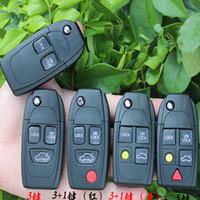 2/3/4/5 أزرار استبدال سيارات معدلة الذكية عن بعد ورقي طي شل مفتاح للحصول على حالة فولفو XC70 XC90 V40 V50 V70 S60 S80