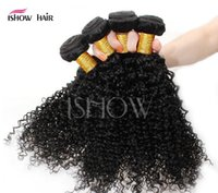 Women real hair curtains Kinky Curly hair Hair Extensions bl...