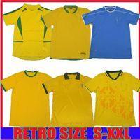 1957 1994 1970 Brasil Soccer Jersey Rivaldo 1988 1998 خمر كلاسيكي ريترو روماريو رونالدينيو 2002 البرازيل كاميسا دي فيوتول لكرة القدم قميص