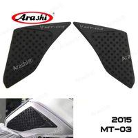 Arashi YAMAHA MT-03 2015-2017 Için Motosiklet Koruyucu Tank Pad Sticker Gaz Diz Kavrama Diz Kavrama Koruyucu Çıkartmalar MT03 MT 03 2015 2016 2017