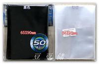 65x90mm حجم البطاقة القياسية الأكمام بطاقة حامي حامي مزيج الألوان