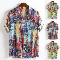 Shirts Male hawaiian shirt camisas de hombre Mens Breathable...