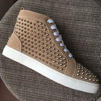 Junger Skate Schuhe Marke Design Red Bottom Sneaker Männer Junior Spikes Roller Boot High Top Lässige Wanderschuhe Großhandel billig