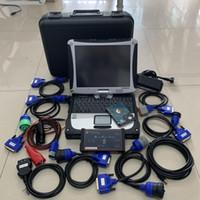 DPA5 USB Diesel Truck Diagnostic Tool Scanner con laptop CF19 TouchBook Touch Screen Set completo di 2 anni di garanzia