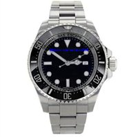 Mens quadrante nero 44mm quadrante nero Sea-Dweller 116660 con lunetta in ceramica D blu Asia 2813 movimento automatico da uomo