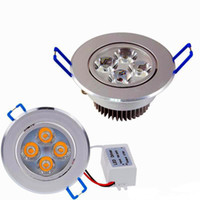 Nuevos Downlights 9W 12W AC85V-265V LED Downlight de techo Empotrable LED Lámpara de pared Foco con controlador LED para iluminación del hogar