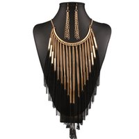 Schmuck Quaste Schmuck Sets Gold Farbe Quaste Ohrringe Halskette für Frauen heißer Art und Weise frei von Versand