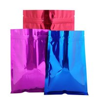 18 * 26cm Neue 100 stücke Farbige Aliminumfolie Reißverschluss Lock Tasche Selbstversiegelung Bunte Matellic Mylar Folie Ziplock Paket Tasche für Lebensmittel Lebensmittel