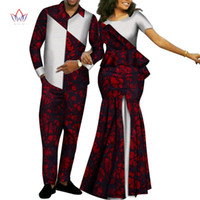 Africa Style Couples Clothing for Sweet Lovers 2019 Bazin Lo...
